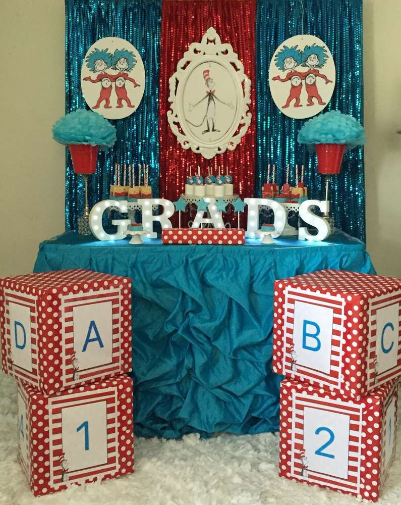 What a fun Dr. Seuss graduation party! See more party