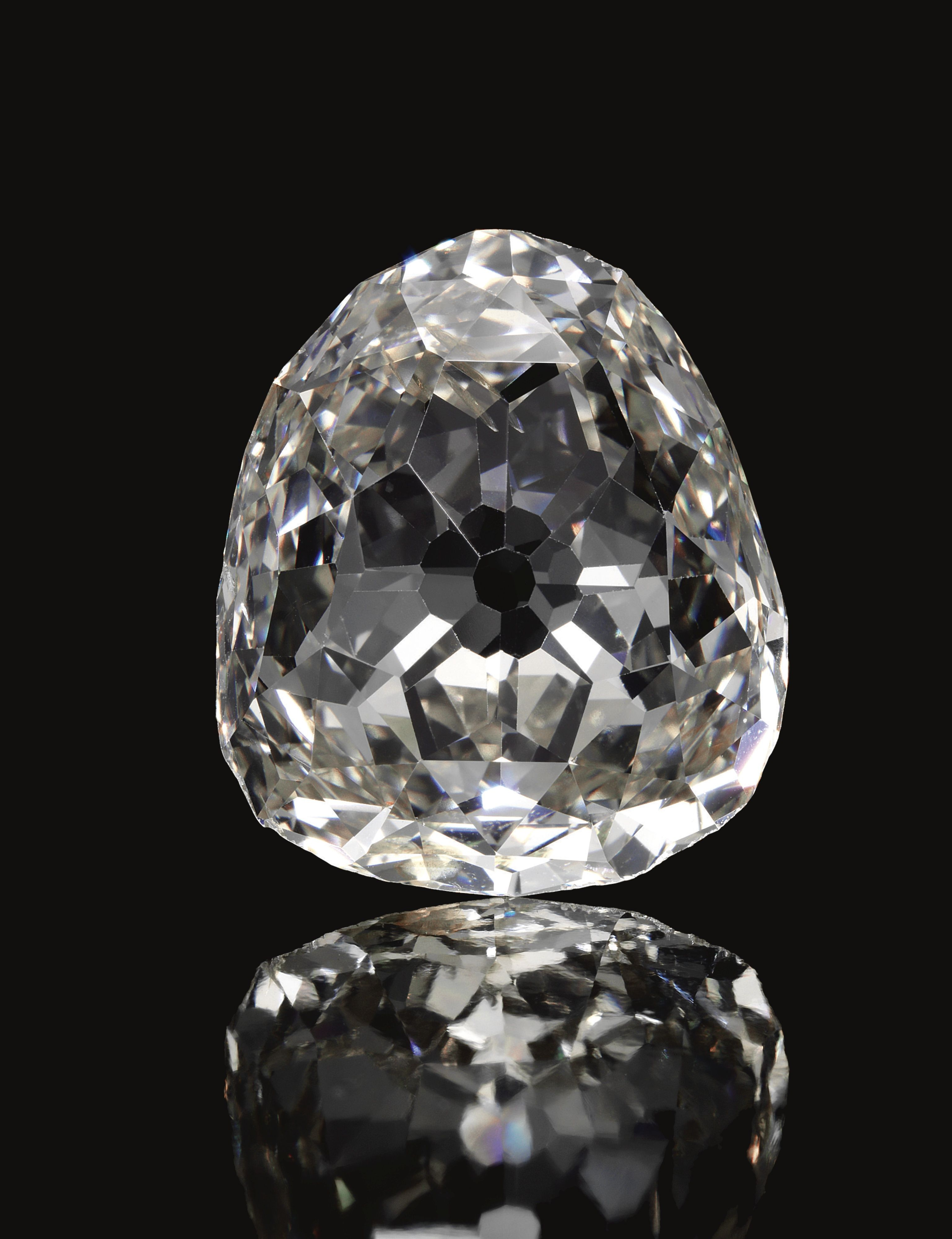 PROPERTY OF THE ROYAL HOUSE OF PRUSSIA: The Beau Sancy Diamond, a modified 34.98 carat pear double rose-cut diamond. Provenance: Queen Marie de Medicis of France; Prince Frederick Henry of Orange, Count of Nassau; Mary Stuart, Princess Royal, daughter of Charles I and Queen Henrietta Maria of England; Queen Mary II of England, daughter of James II; Frederick III, Elector Prince of Brandenburg, later Frederick I of Prussia; thence by descent.