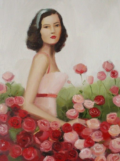 Patience And Her Prize Winning Roses / Janet Hill