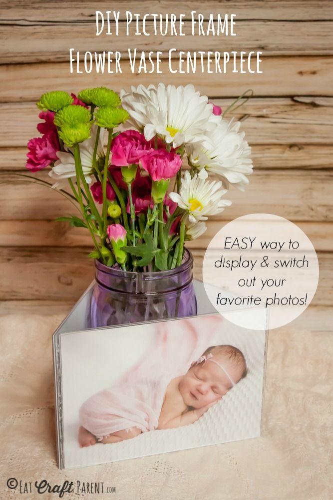 Diy picture frame flower vase centerpiece general gift