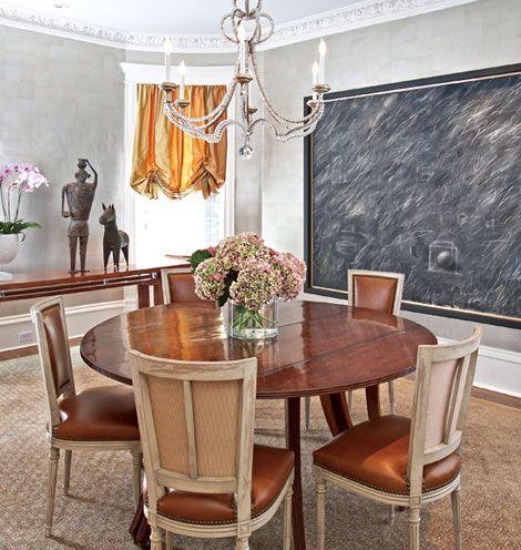 Another photo of Niermann Weeks Danieli chandelier in this dining room. niermannweeks.com #NiermannWeeks