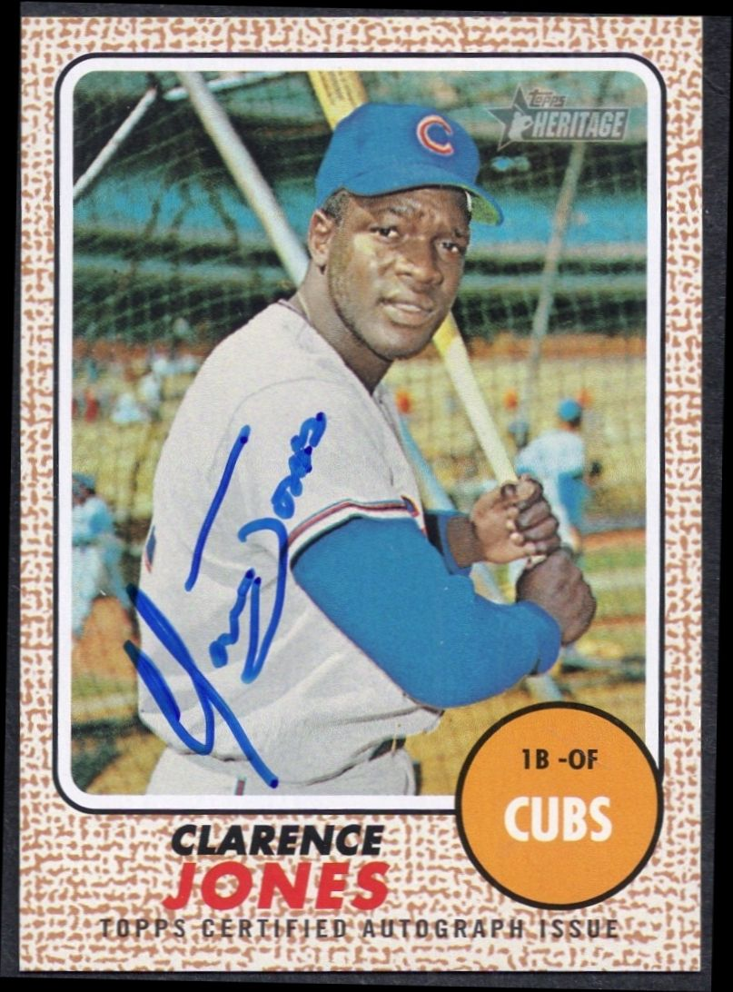 2017 Topps Heritage Certified Clarence Jones autograph