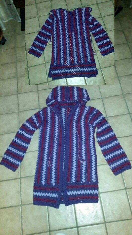 Granny Stripes Jacke Von Mir Meine Häkelei Pinterest