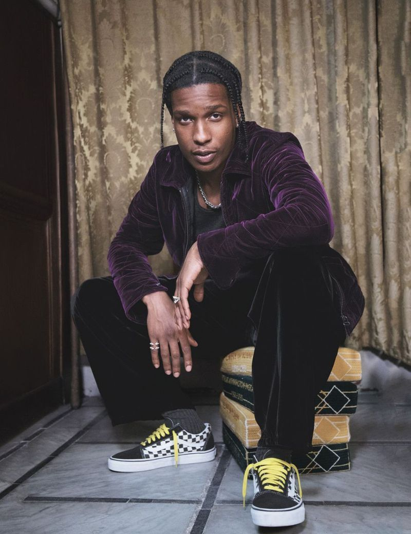 cheap for discount uk availability fantastic savings ASAPROCKY #VANS in 2019 | Gq style, Asap rocky, Yellow lace