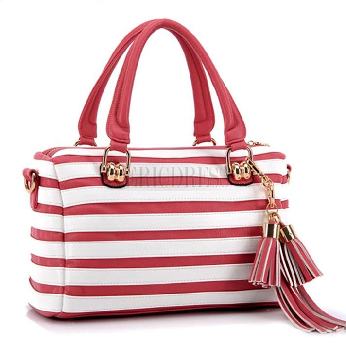 Zebra-stripe Tassels Design Handbags for Women 2  2918ef4ce87fc