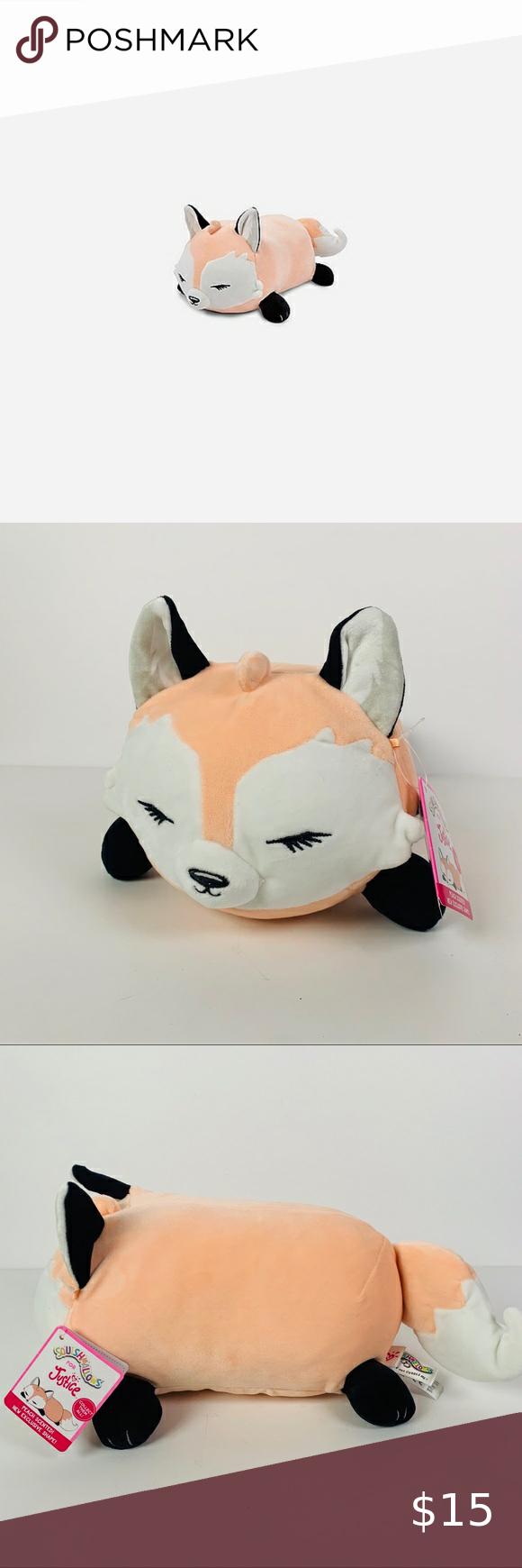 Justice Mini Squishmallow Quinn The Fox Peach Justice Toys Soft Plush Pet Toys