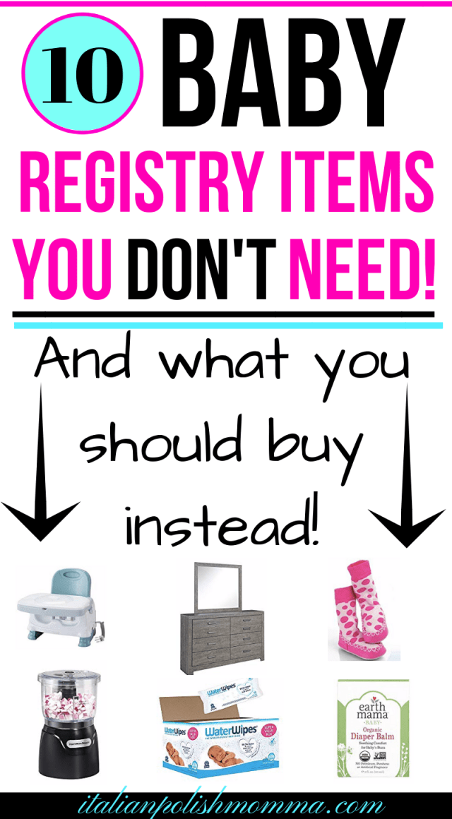10 Baby Registry Items You Don't Need | Baby registry items