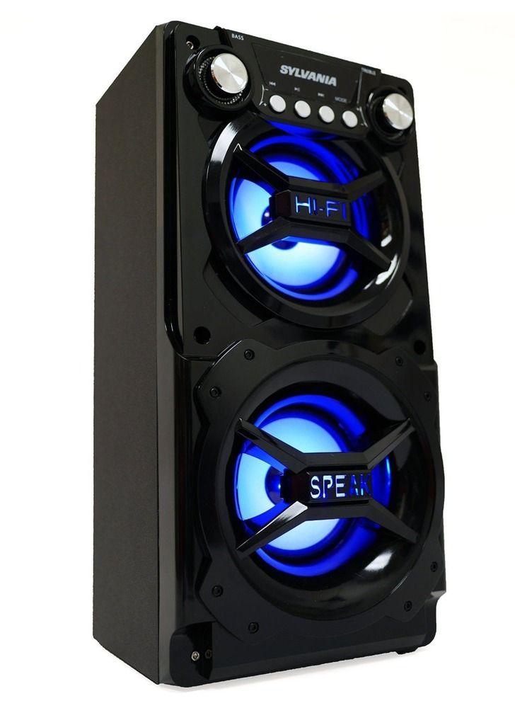 SP328-B-BLACK Black Sylvania Portable Bluetooth Speaker