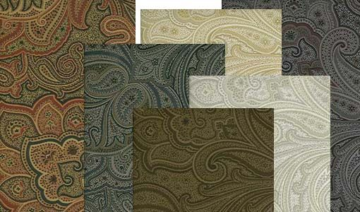Product Group: 533570  Paisley design wallpaper set includes #1 red, black & tan