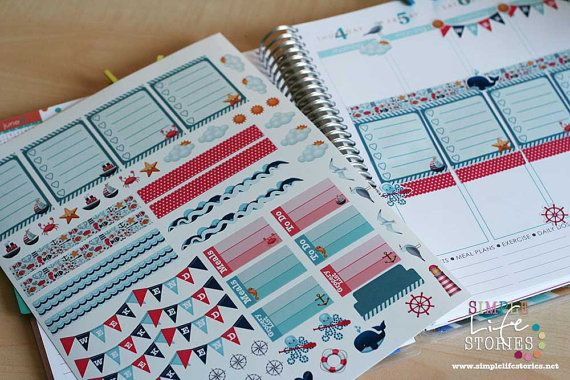 Nautical Theme Sticker ideal for Erin Condren by SimpleLifeStories