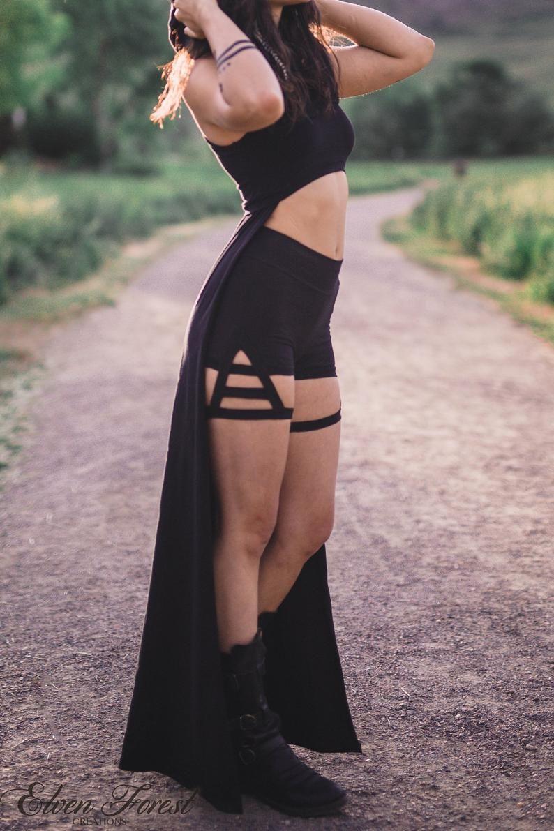 Triangle Garter Shorts ~ Elven Forest ~ Festival Clothing, Bohemian, Love