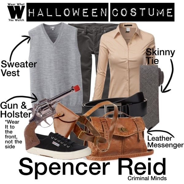 4b3d8f74f06f A Halloween Costume how-to inspired by Matthew Gray Gubler as Dr. Spencer  Reid on Criminal Minds.