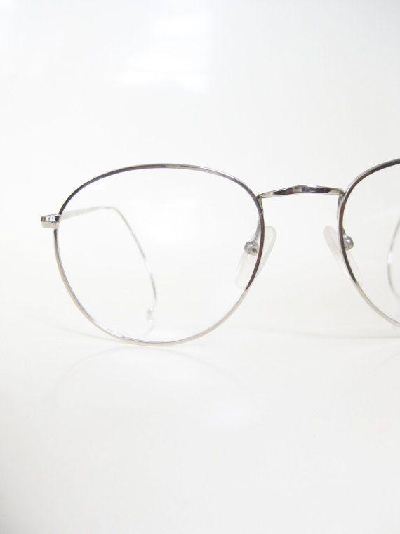 Round Wire Rim Mens Glasses Silver Metallic P3 Eyeglasses Eyeglass ...