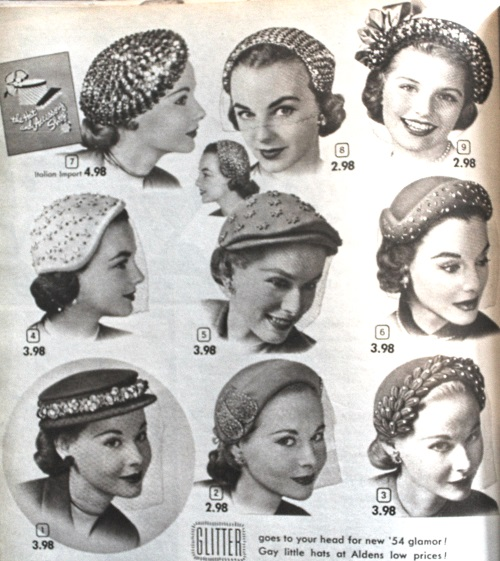 1950s Womens Hats By Style Hats For Women Hats Vintage Vintage Fashion