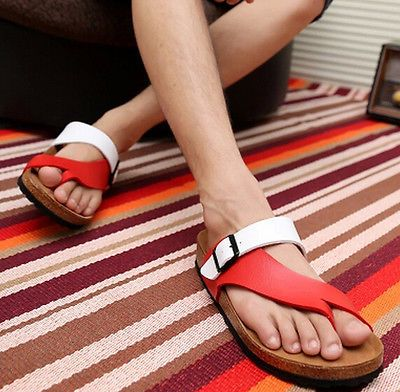 Mens-New-Fashion-Clogs-Loafer-Slippers-Buckle-Slip-Gladiator-Flip-Flops-Sandals