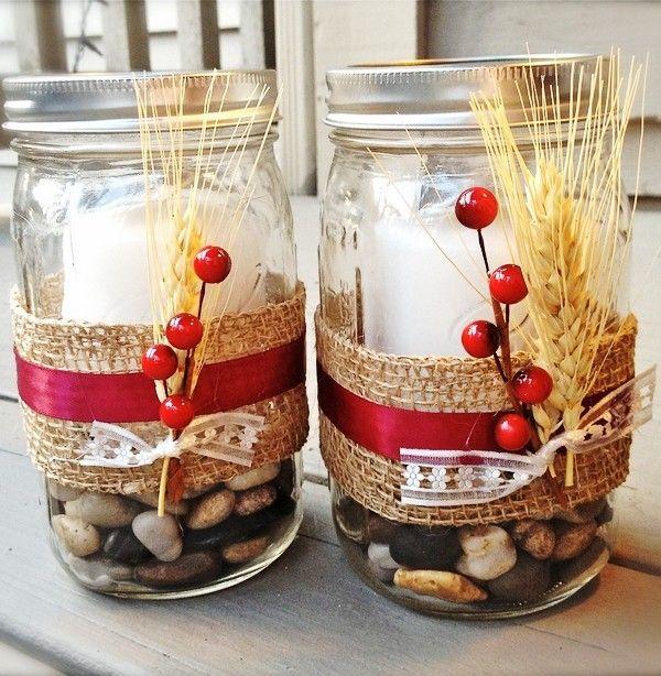 2014 diy christmas candle jars creative mason jar candles for Diy christmas crafts with mason jars