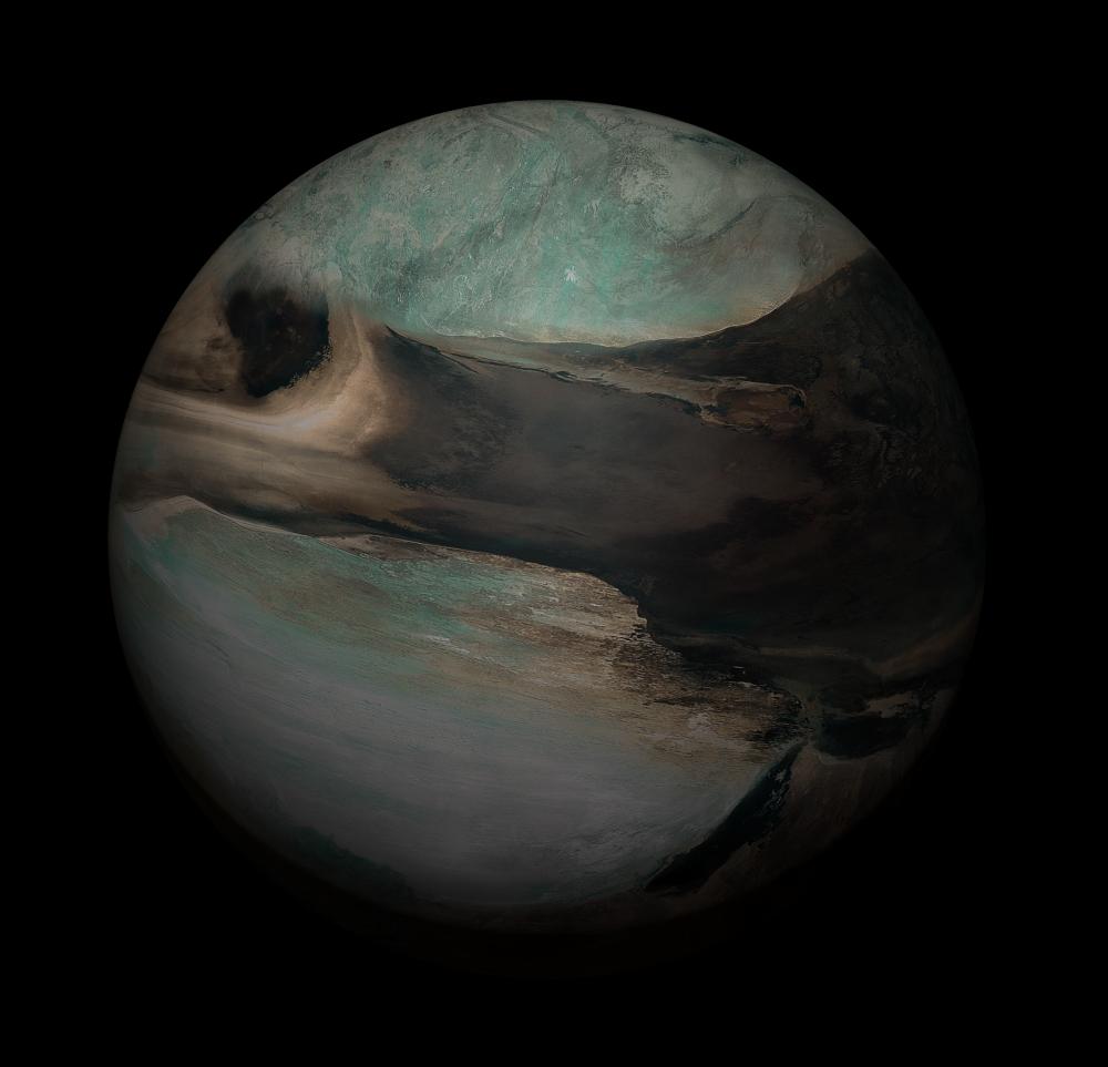 Seamless Fictional Alien bitmaps for 3D