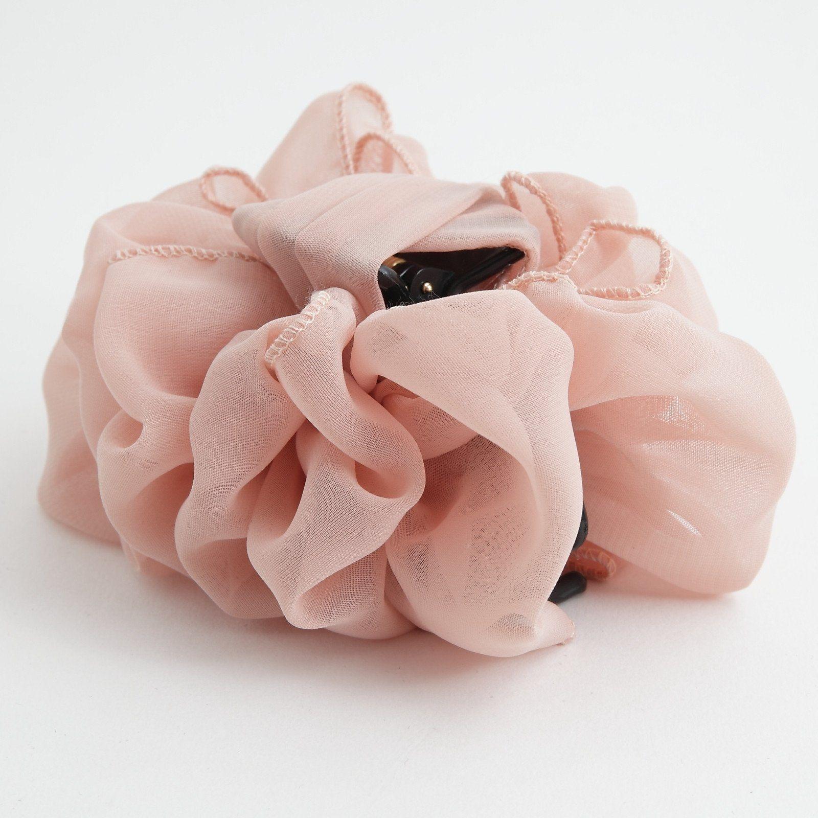 Grosgrain Petal Pistil Flower Hair Jaw Claw Gift Hair Accessories