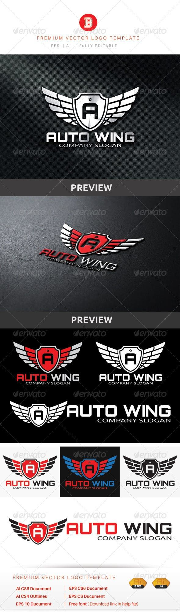 Auto Wing — Vector EPS #pitstop #play | Logo design ...