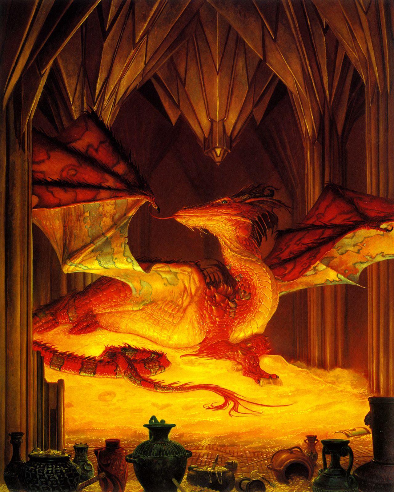 Image result for donato Giancola The Great Dragon Smaug