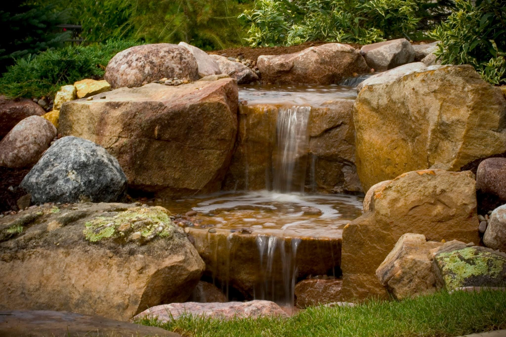 small pond less waterfall for gardens | Share | Backyard and ...