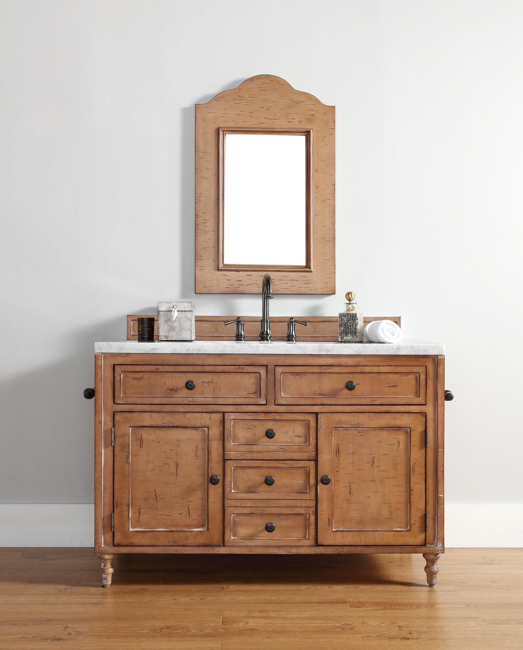 "Copper Cove 48"" Single Sink Bathroom Vanity Cabinet Driftwood"