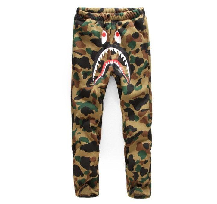 BAPE Camo Shark Sweatpants  93e4ede750c7