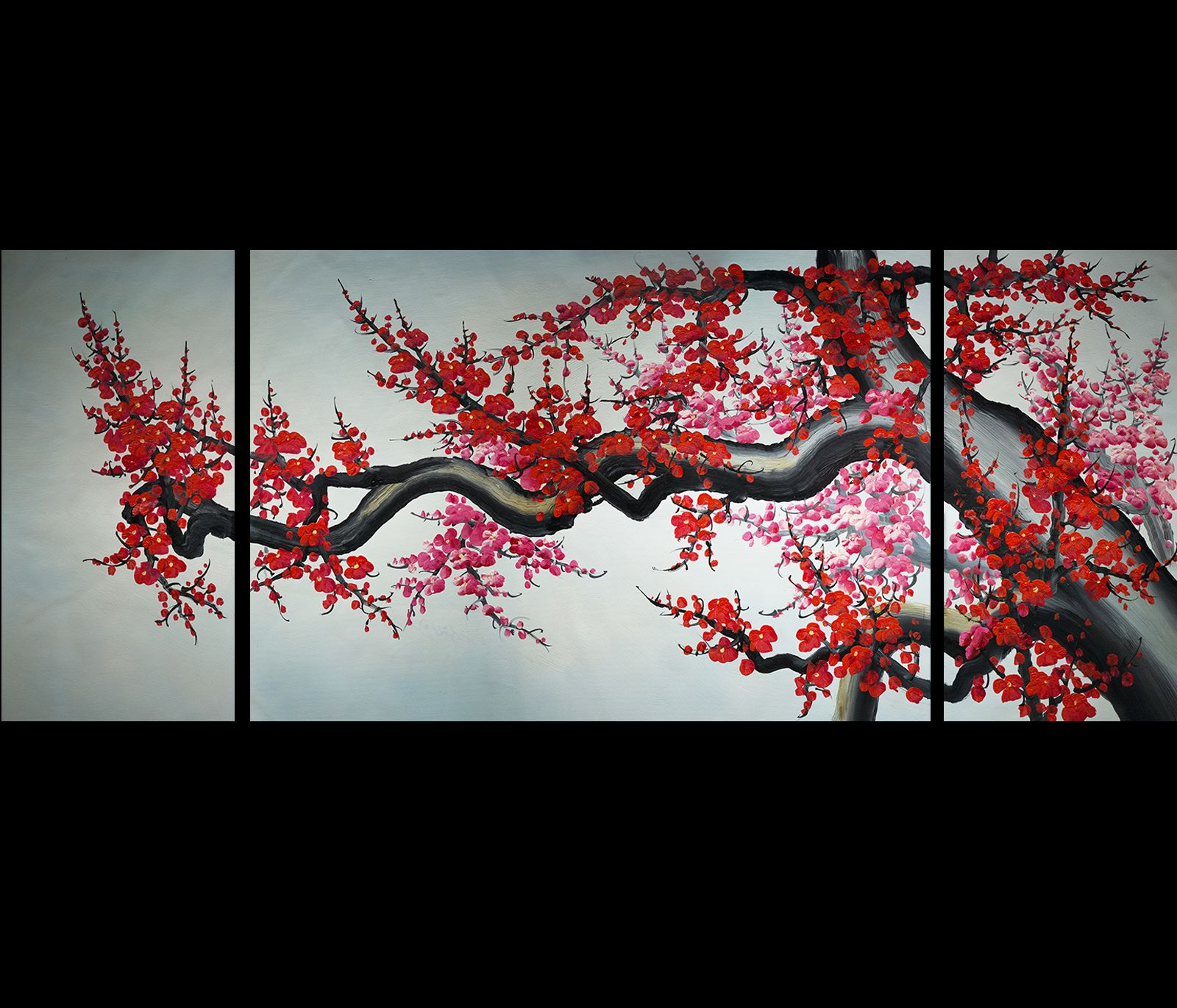 Cherry Blossom Canvas Wall Art japanese cherry blossom painting abstract art canvas wall art