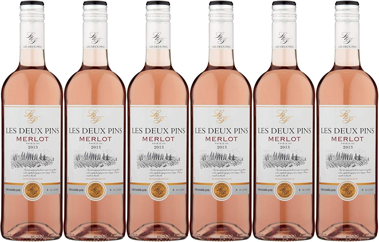 vin rose les deux pins merlot rose pays