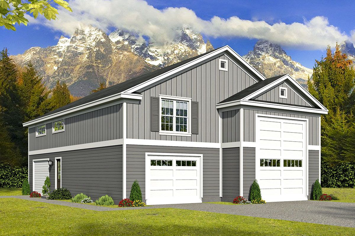 Plan 68599vr Rv Garage With Living Space A Plus Garage To Living Space Garage Apartment Plans Carriage House Plans