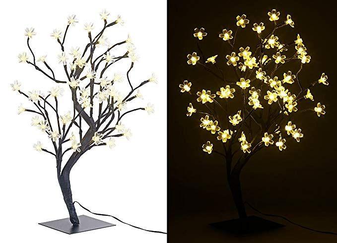 Lunartec LED Lichterbaum LED-Baum mit 64 beleuchteten Blüten, 45 cm
