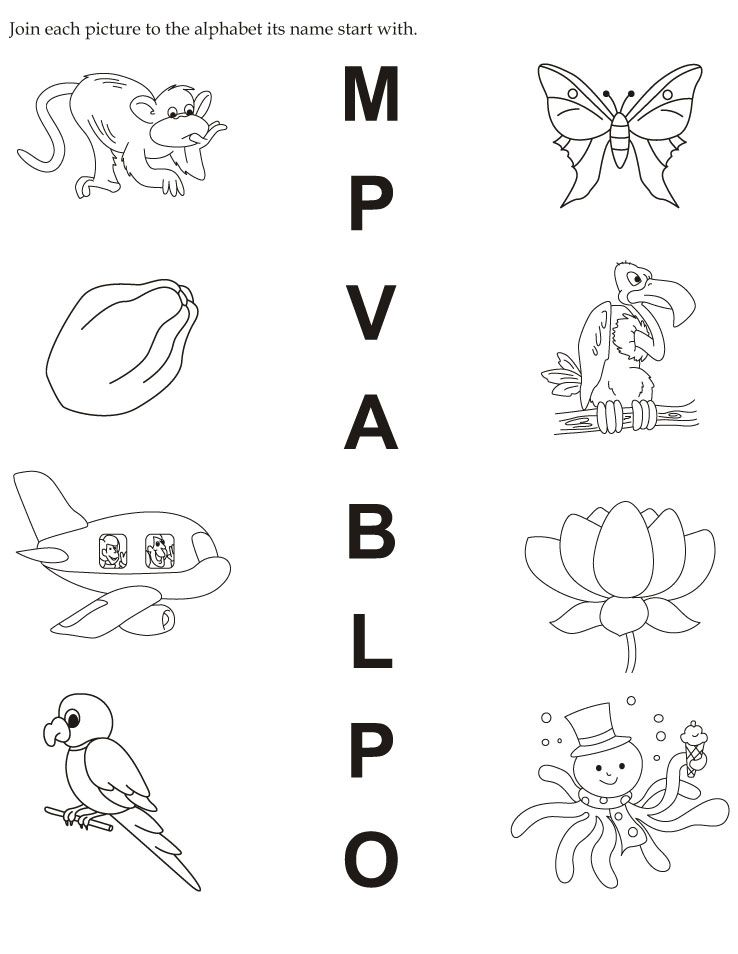 Worksheet English Worksheet For Alphabet download english activity worksheet join each picture to the alphabet its name start with from bestcoloringpages
