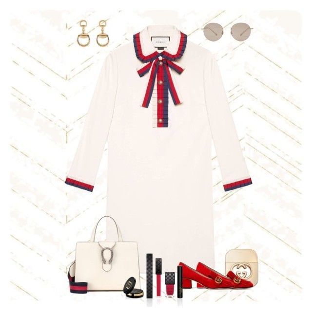 5ed8938ee3d Gucci Red by mistysprings on Polyvore featuring polyvore, fashion, style,  Gucci, Home Decorators Collection, vintage and clothing