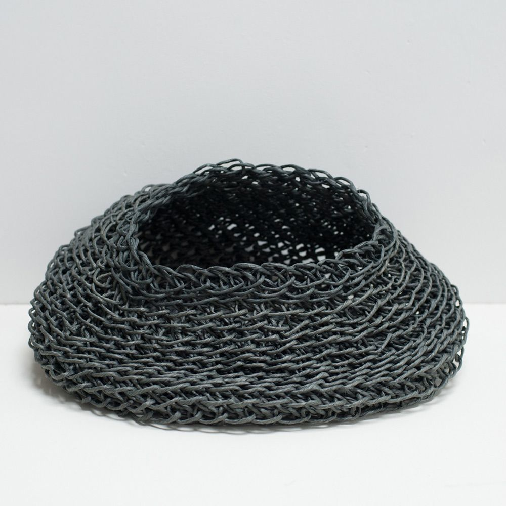 Round Charcoal recycle paper basket www.clothandgood.com   Cloth and ...