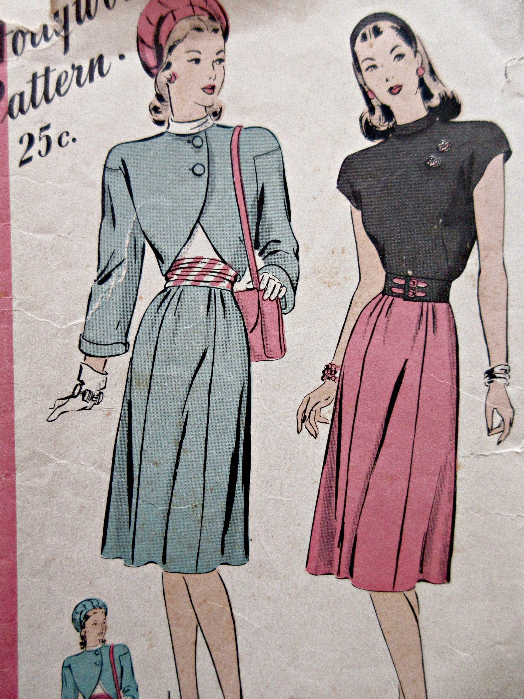 Vintage Hollywood 1749 Sewing Pattern 1940s Skirt Pattern Etsy Bolero Pattern Skirt Pattern Vintage Hollywood