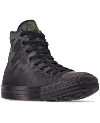 397fd4359649 Converse Men s Chuck Taylor All Star Gradient Camo High Top Casual Sneakers  from Finish Line - Green 10