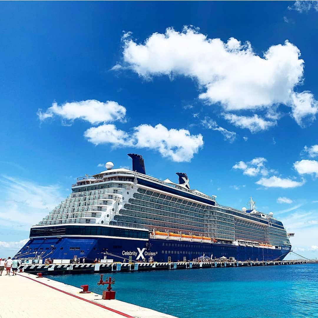 Celebrity Equinox Showing Off Her New Paint Job In Cozumel Mexico