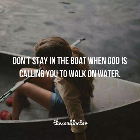 walk on water ...