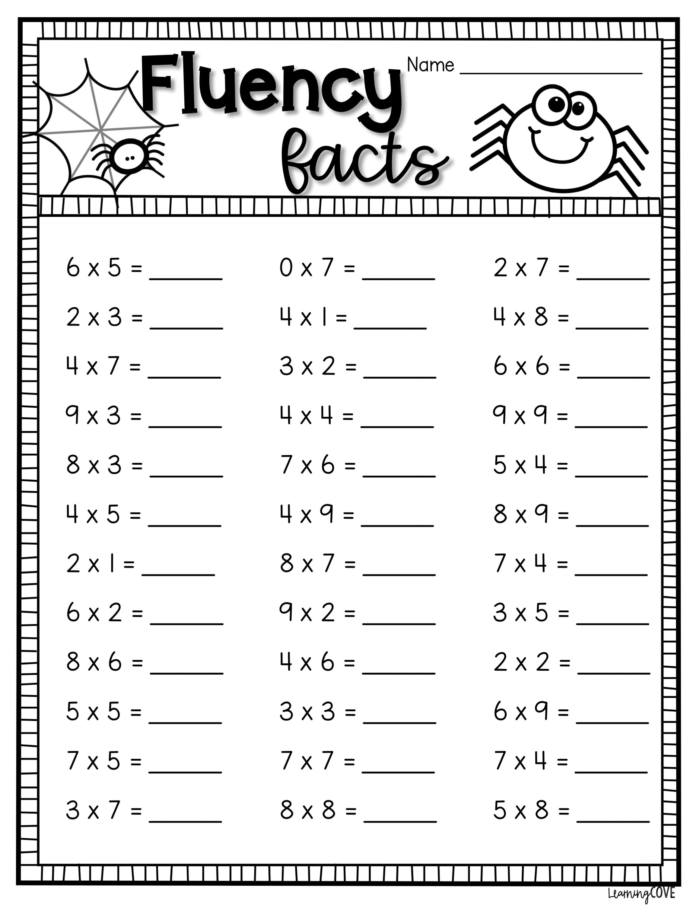 Halloween Multiplication Worksheets In