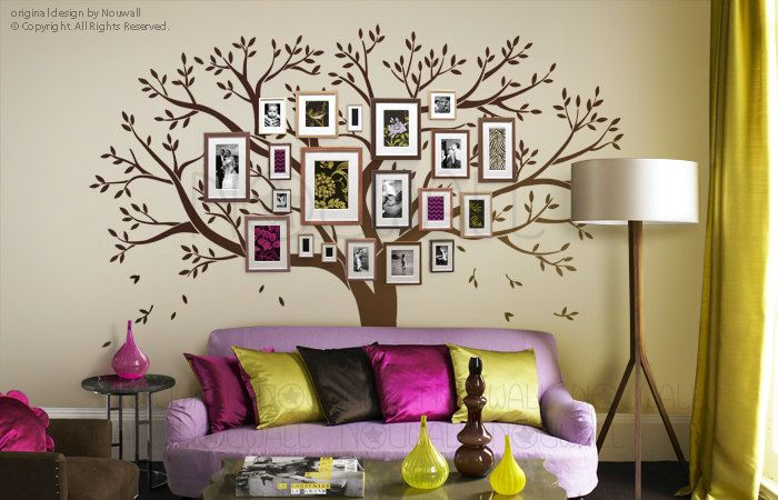 Tree wall decals wall stickers family tree wall decal photo frame tree decal