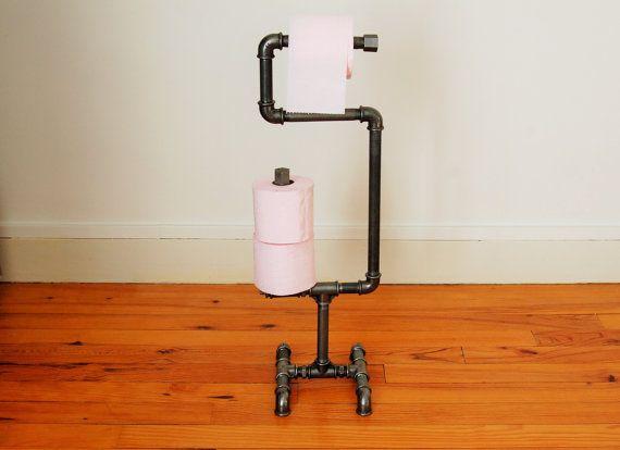 Distributeur de papier toilette WC-support WC-Porte-rouleau style art déco en fonte antique salle de bain