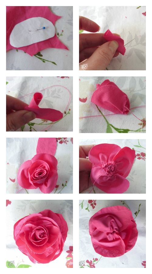 How to Make Easy Beautiful Fabric Roses  3b5aff5646b