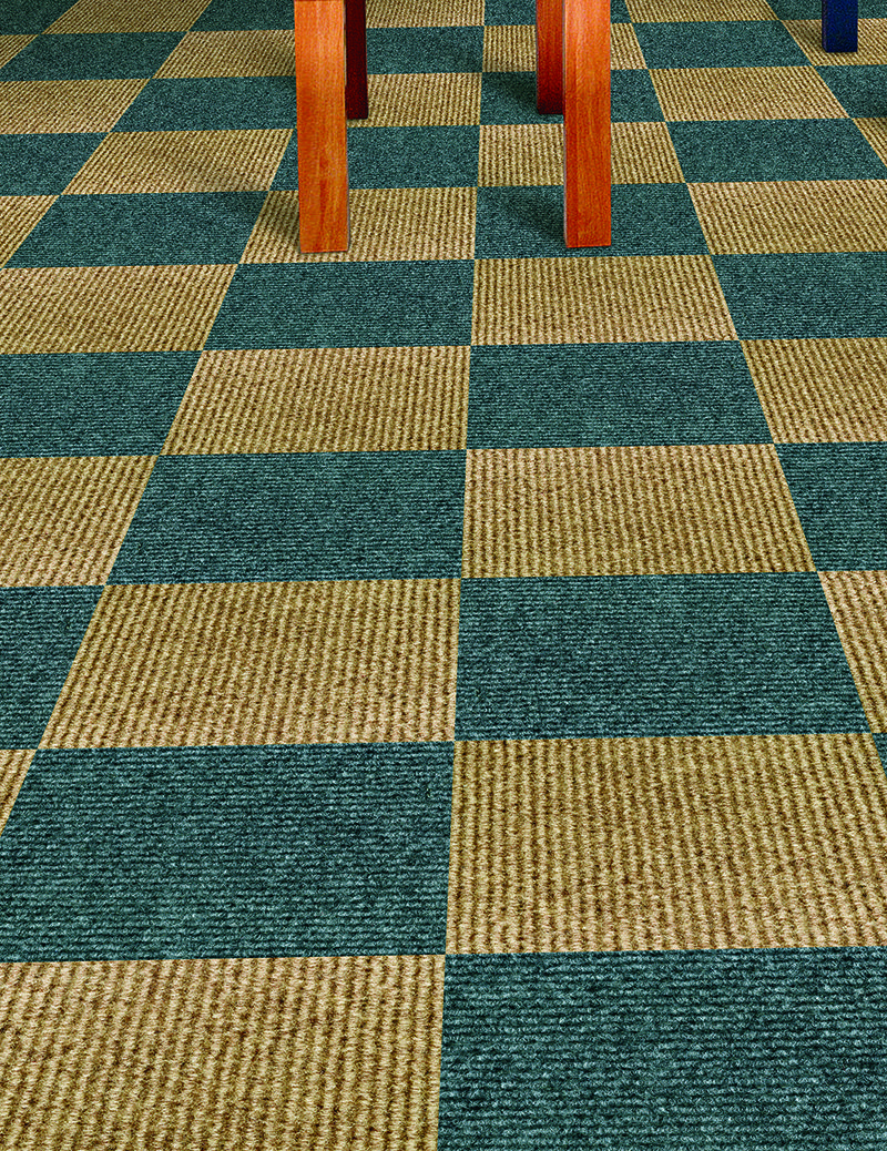 A perfect alternative to standard carpet ribbed carpet tiles will refresh your home in no