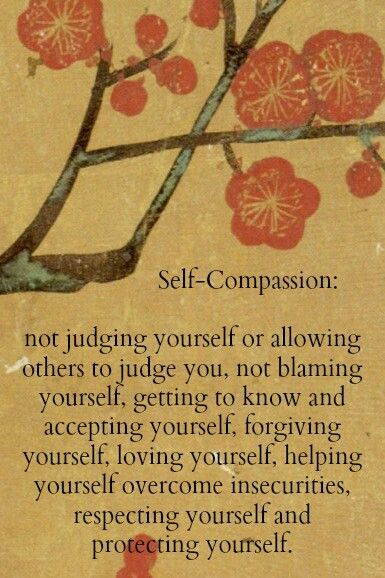 Self-compassion. Sounds cheesy but should try it sometime.