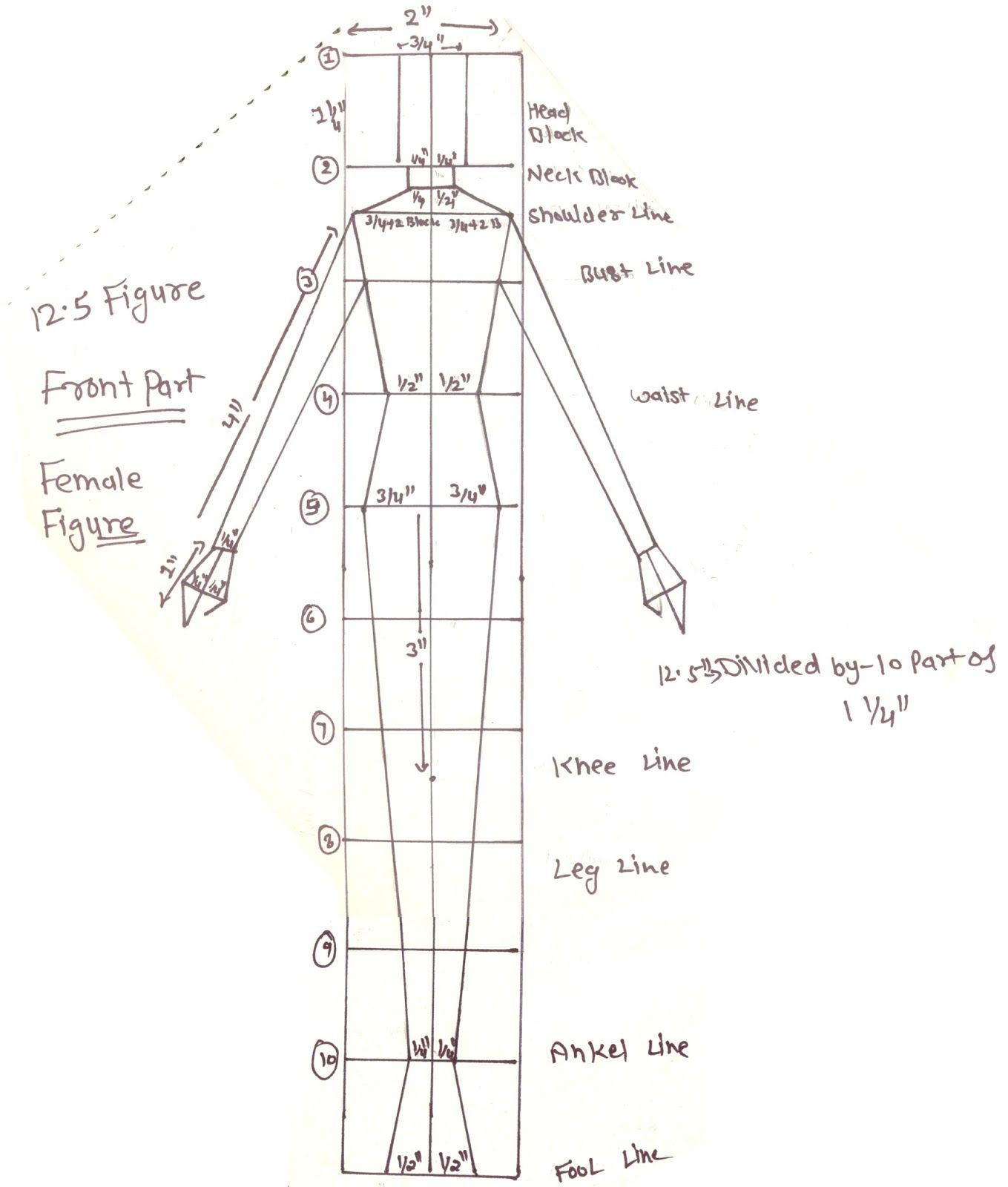 Image Result For How To Make 12 5 Croqui Fashion Figure