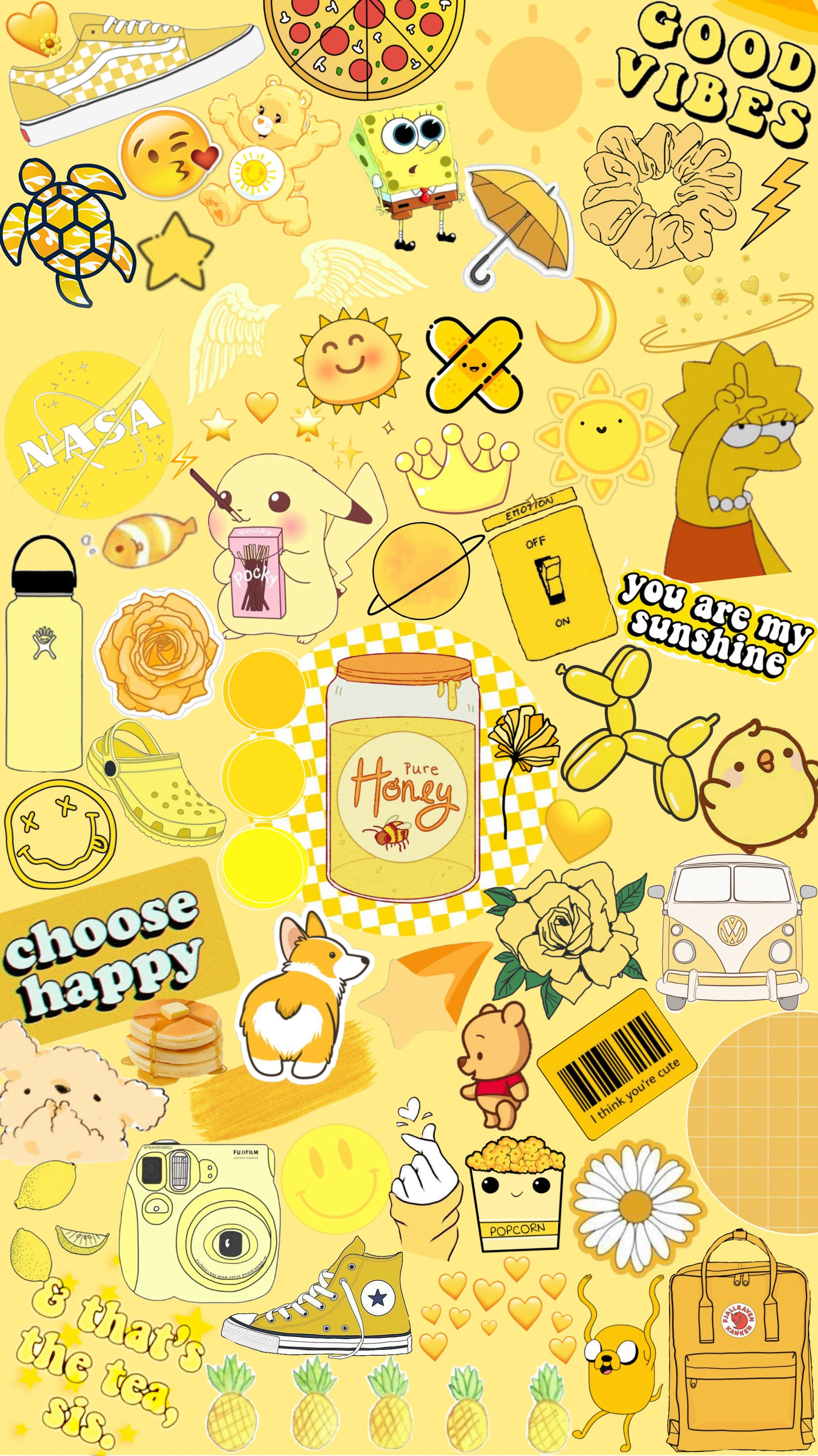 Aesthetic Lockscreen Wallpaper Yellow Funny Phone Wallpaper Yellow Wallpaper Aesthetic Wallpapers