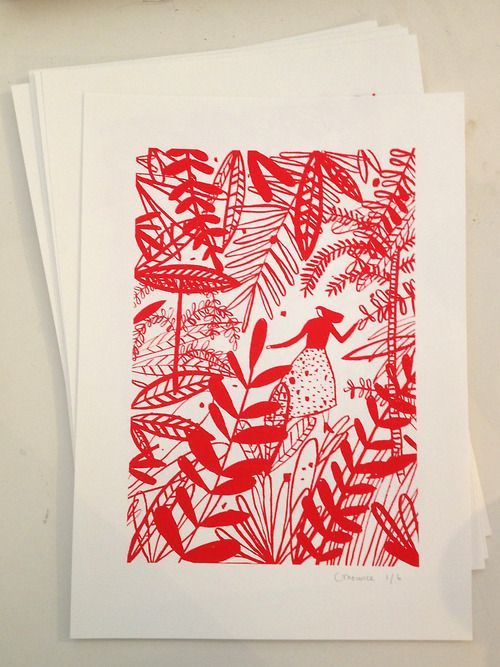 New screen print available from my shop http://charlottetrounce.bigcartel.com/  Hurry, there are only 5 left!