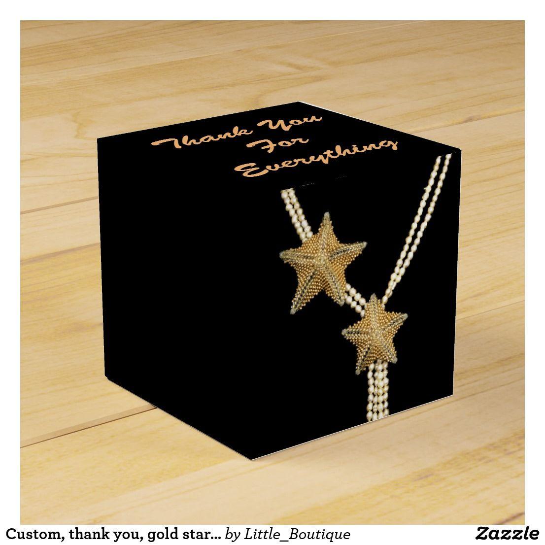 Custom thank you gold star jewelry gold stars diy