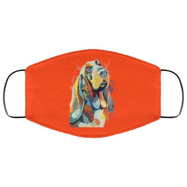 Hand Painted Basset Hound Face Mask in 2020 Face mask