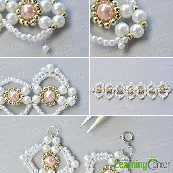 make the rest part of the handmade pink and white pearl bracelet